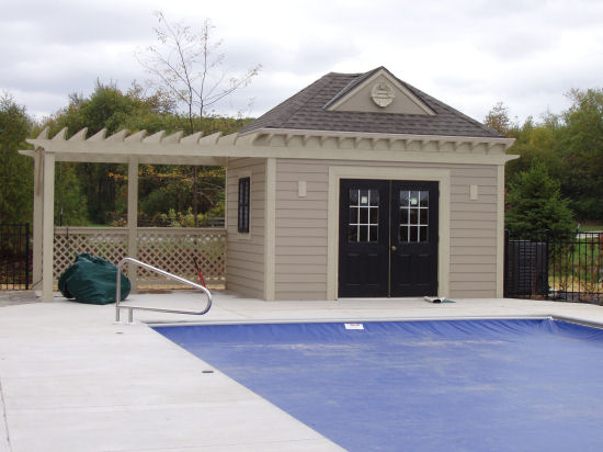 Pool houses by j j construction for Pool and pool house